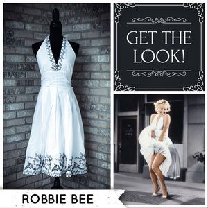 EUC Sz 14 Robbie Bee Marilyn Pin-Up Halter Dress